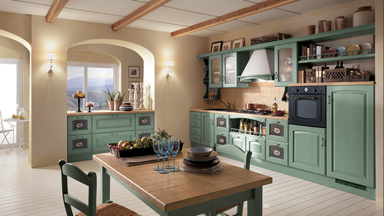 Cucina Country Verde